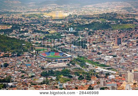 Vista aérea de Tegucigalpa Honduras