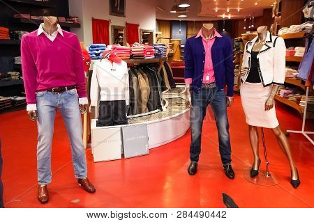 Interior Of An Up-market Fashion Clothing Retail Store