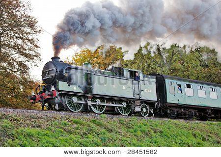 Steam on the embankment
