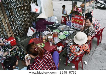 July 9, 2018. Vietnam. Nha Trang. Poor Fast Food Cafe With Unsanitary Conditions