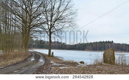 View Winter Landscape, South Bohemia, Czech Republic