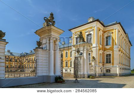 Rundale Palace Is Major Baroque Palaces Built For The Dukes Of Courland, Latvia. Garden