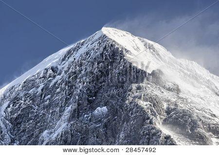 The summit of the Eiger as seen from Kleine Scheidegg Grindelwald Switzerland. poster