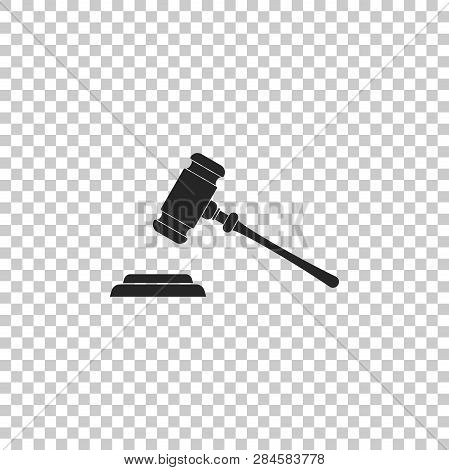 Judge Gavel Icon Isolated On Transparent Background. Gavel For Adjudication Of Sentences And Bills,