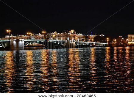 View Of The Hermitage At Night, St. Petersburg