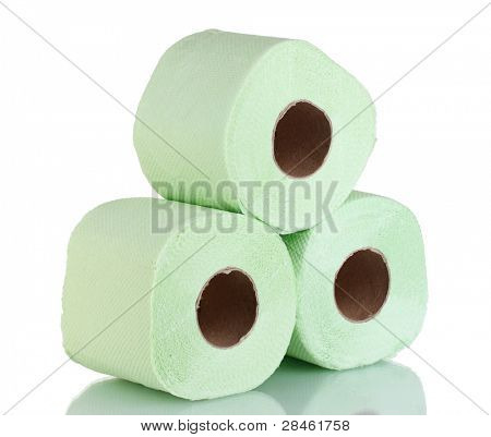 rolls of toilet paper isolated on white poster