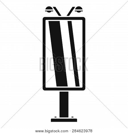 City Lightbox Icon. Simple Illustration Of City Lightbox Vector Icon For Web Design Isolated On Whit