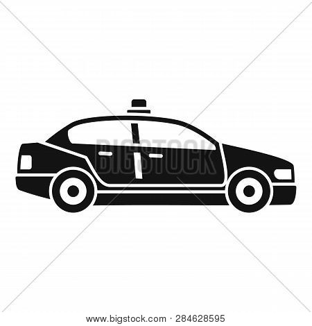 Police Patrol Car Icon. Simple Illustration Of Police Patrol Car Vector Icon For Web Design Isolated