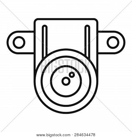 Action Small Camera Icon. Outline Action Small Camera Vector Icon For Web Design Isolated On White B