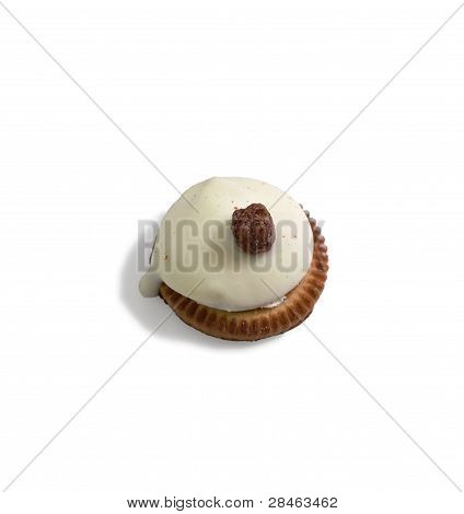 Cookies Covered With A Spherical Shape With White Chocolate