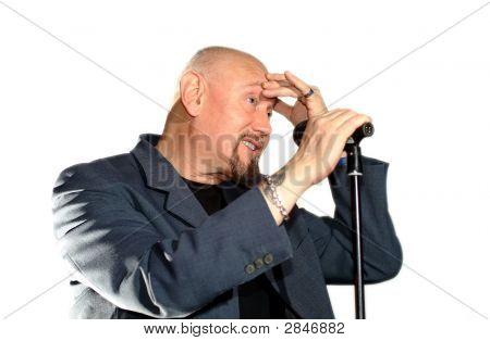 Senior Holding A Speech