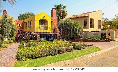 Upmarket Wealthy Suburban Johannesburg Neighborhood
