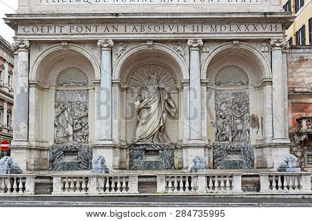 Moses fountain in Rome poster
