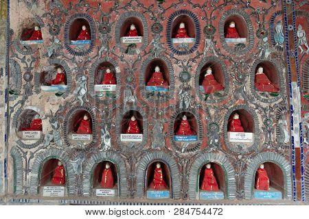 Inle Temple Shwe Yaunghwe Kyaung Monastery At Nyaungshwe Near Inle Lake In Shan State Myanmar.