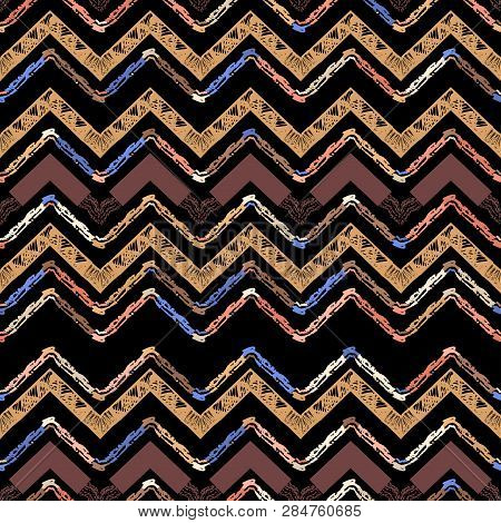 Abstract Zigzag Pattern For A Cover Design.