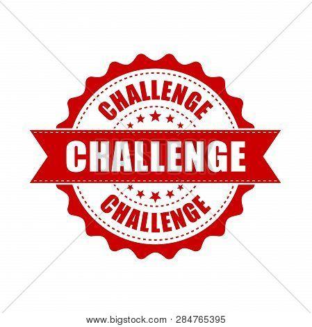 Challenge Grunge Rubber Stamp. Vector Illustration On White Background. Business Concept Challenge S