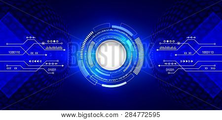 Internet Connection With Various Hi-tech Elements On The Background. Abstract Global Technology Conc