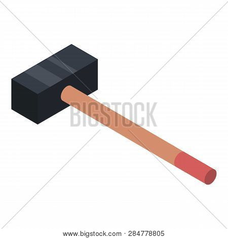 Heavy Hammer Icon. Isometric Of Heavy Hammer Vector Icon For Web Design Isolated On White Background