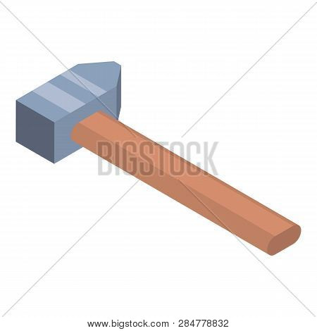 Metal Hammer Icon. Isometric Of Metal Hammer Vector Icon For Web Design Isolated On White Background