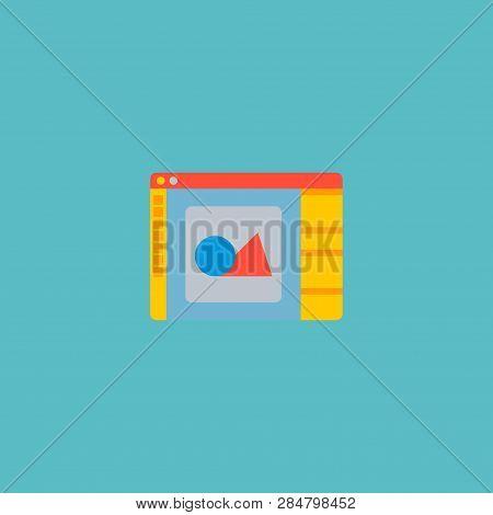 Design Software Icon Flat Element.  Illustration Of Design Software Icon Flat Isolated On Clean Back