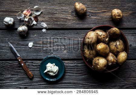 Young Boiled Potatoes With Dill And Garlic A
