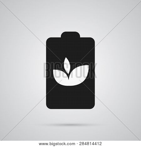 Isolated Accumulator Icon Symbol On Clean Background.  Eco Battery Element In Trendy Style.