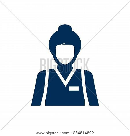 Isolated Assistance Icon Symbol On Clean Background.  Seller Element In Trendy Style.