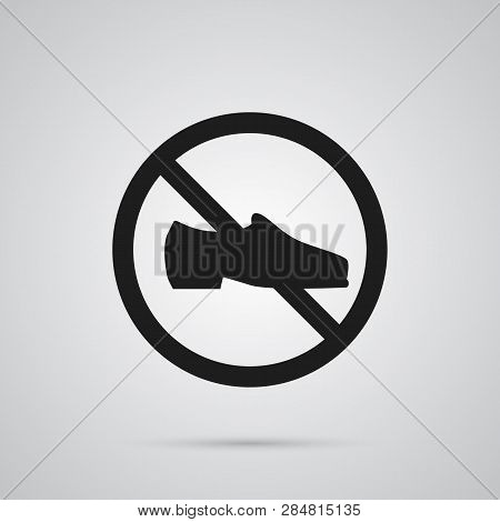 Isolated Footwear Icon Symbol On Clean Background.  Not Shoes Element In Trendy Style.