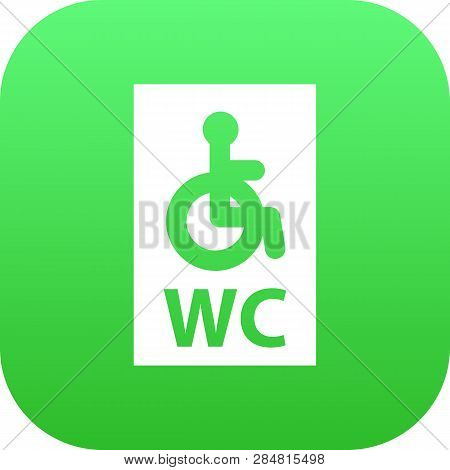 Isolated Handicapped Wc Icon Symbol On Clean Background. Vector Wheelchair Toilet Element In Trendy