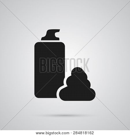 Isolated Shaving Cream Icon Symbol On Clean Background.  Moisturizing Element In Trendy Style.