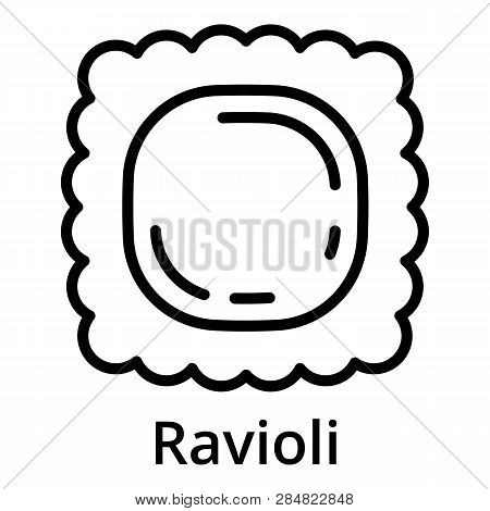 Ravioli Icon. Outline Ravioli Vector Icon For Web Design Isolated On White Background