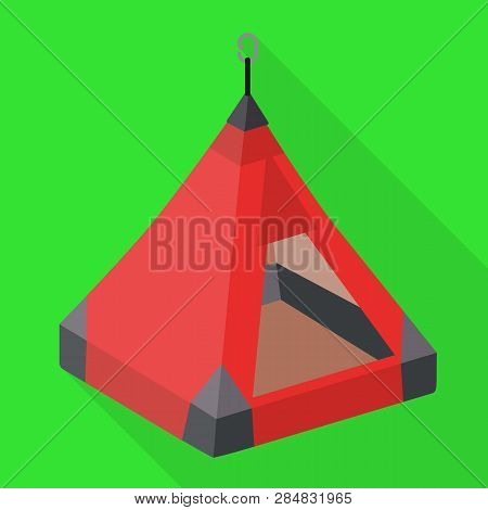 Hiking Tent Icon. Flat Illustration Of Hiking Tent Vector Icon For Web Design