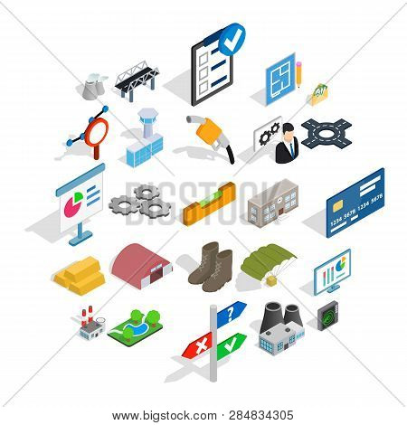 Financing Of Project Icons Set. Isometric Set Of 25 Financing Of Project Vector Icons For Web Isolat