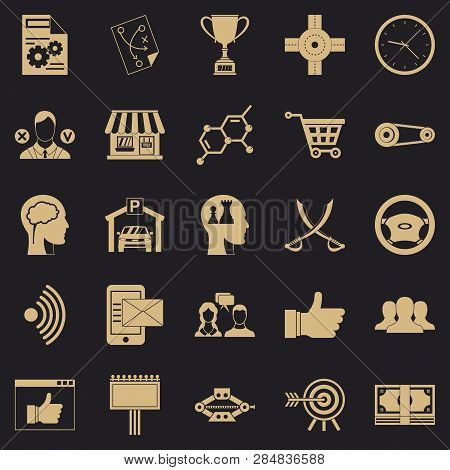 General Director Icons Set. Simple Set Of 25 General Director Vector Icons For Web For Any Design