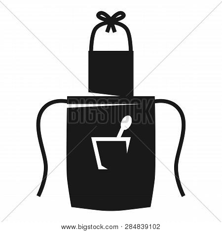 Pinafore With Spoon In Pocket Icon. Simple Illustration Of Pinafore With Spoon In Pocket Vector Icon