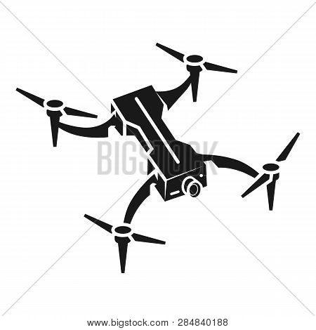 Portable Drone Icon. Simple Illustration Of Portable Drone Vector Icon For Web Design Isolated On Wh