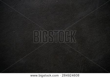 Genuine Real Black Leather Background