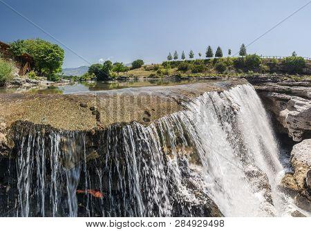 Panoramic View of Niagara Falls on the Cievna river in Montenegro poster