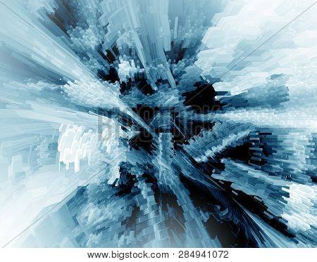 Abstract 3d Blue Rendered Illustration Background For Design