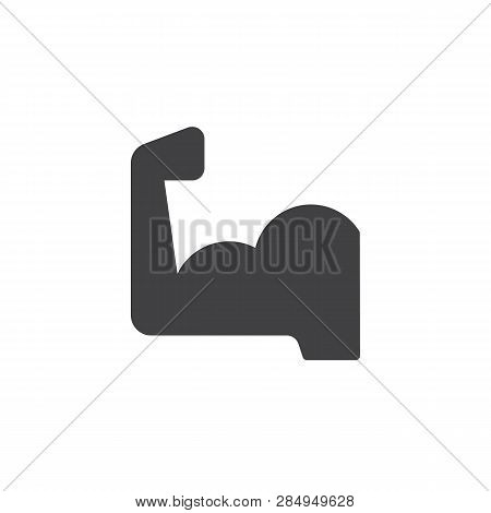 Flexed Biceps Hand Vector Icon. Filled Flat Sign For Mobile Concept And Web Design. Strong Arm Muscl