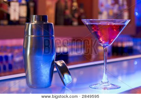 Cocktail Drink And Shaker