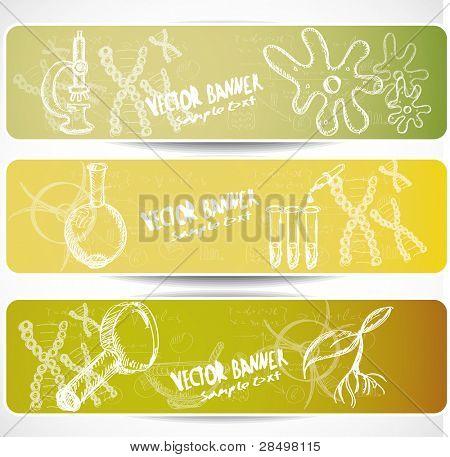 Biology web banners