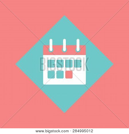 Calendar With Clipboard Vector, Schedule Events Planner Isolated Icon. Paper Object With Deadlines,