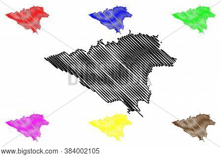 Tehran City (islamic Republic Of Iran, Persia, Capital City) Map Vector Illustration, Scribble Sketc