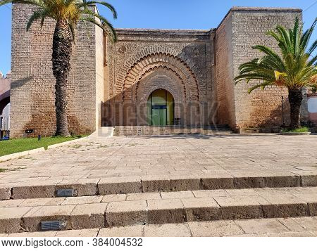 Rabat, Morocco- 02 January 2020. Bab Er-rouah Is A Monumental Gate In The Almohad-era Ramparts Of Ra