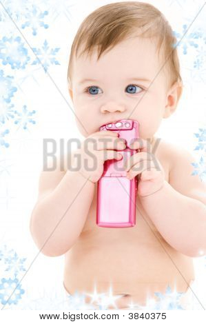 Baby With Cell Phone