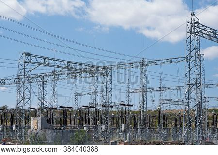 Power Plant. Equipment In An Electrical Sub Station