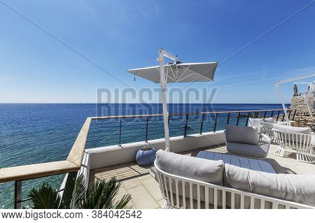 View Of The Open Sea From The Terrace Of The Cafe