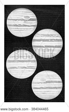 The planet Jupiter in 1889, From the Universe and Humanity, 1910.
