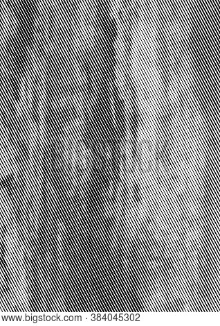 Grunge Rough Texture Background With Slanted Lines Pattern In Vintage Monochrome Style Vector Illust